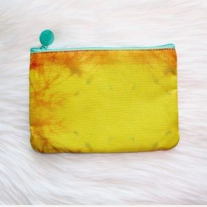 NWOT Ipsy Cosmetics Bag Yellow/Orange Tie-Dye